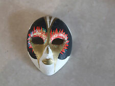 Delightful Hand Made Hand Painted Original Italian Venetian Mask Broach / Pin