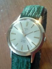 Vintage men's 1960's TIMEX 21 JEWEL automatic wristwatch, runs great