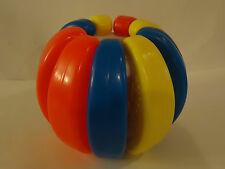 Vintage BUILD A BALL Shelcore Snap OnOff Building Baby Learning Toy Colorful