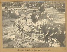 MARSEILLE PHOTO VINTAGE GRAND FORMAT BATAILLE DE FLEURS 18 MARS 1900