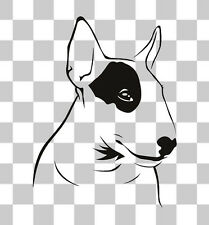 English Bull Terrier Patch Dog Car Bumper Window Laptop Wall Vinyl Decal Sticker