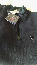 Mens Paul & Shark Yachting pullover with zip wool sweater