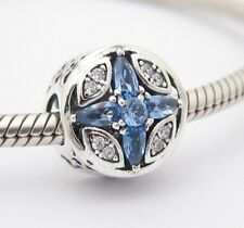 WINTER SNOWFLAKE CHARM Bead Sterling Silver .925 For European Bracelet 541