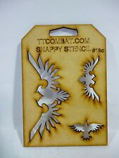 TTCombat - Snappy Stencils - 18 C - Birds of Prey Eagles and Ravens