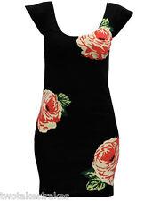 Motel Belinda Rose Bouquet Designer Black Dress Floral Motel Rocks Asos New S 10