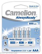 12 x Camelion Always Ready 800mAh AAA Micro HR03 NiMH 1,2V Akku Blister Accu