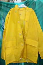 unisex yellow thick vinyl fishermans oilskin smock sailing raincoat 44 chest