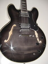 New Stedman Pro 6 String Semi  Hollow Body Electric Guitar Memphis Jazz Black