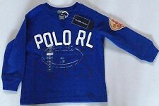 POLO RALPH LAUREN LONG SLEEVE T ROYAL AVAILABLE 2,6,'T' RRP £37 NOW £18.50