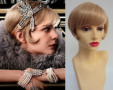 DELUXE DAISY GREAT GATSBY 1920's 30's BLONDE FLAPPER CHARLESTON COSTUME WIG
