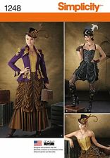 SIMPLICITY SEWING PATTERN 1248 MISSES STEAMPUNK SKIRTS CORSETS JACKET 6-12