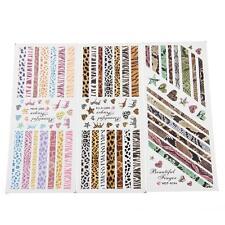 3x Décoration Déco d'Ongles Stickers Manucure Nail Art DIY Serpent/Léopard/Zèbre