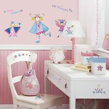 ROOM MATES FAIRY PRINCESS WALL STICKERS 23 PIECE SET KIDS GIRLS BEDROOM FREE P+P