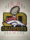 Super Bowl 50 Golden Logo Iron-on Denver Broncos champions Jersey PATCH!
