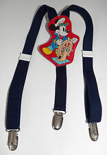 VTG Mickey Mouse Baby/Toddler Navy Blue Suspenders Sea Captain Steamboat Willie