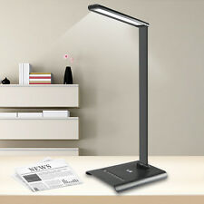6W Touch Sensor 21 LED Light Dimmable Desk Table Reading Book Lamp 350lm + Power