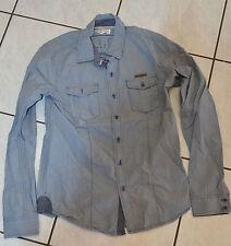 KAPORA - Très jolie chemise gris bleu - Taille 14 ans - EXCELLENT ÉTAT