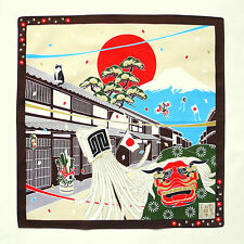 New Year with Cat Japanese Cotton Furoshiki Wrapping Cloth - TB63