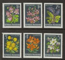 AUSTRIA MNH 1966 SG1471-1476 ALPINE FLORA SET OF 6