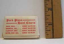 VINTAGE PARK PLAZA HOTEL COURTS ADVERTISING BAR OF GUEST SOAP