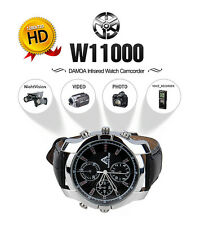 DAMOACAM Spy Watch Camera Camcorder 16GB Hidden DVR IR Night Vision Waterproof