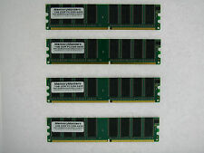 4GB 4x1GB PC3200 DDR400 400MHz Non-ECC 184-pin DIMM Desktop Memory Low Density