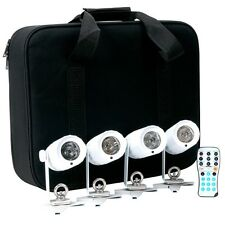 American DJ PinPoint Go Pak | 4 x Battery Powered Pin Spot LED in Carrying Case