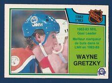 WAYNE GRETZKY GOAL LEADERS 83-84 O-PEE-CHEE 1983-84 NO 215 EXMINT+ 2