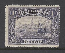 Belgium Sc 119 MLH. 1915 1fr Ship on Antwerp River