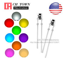9 Lights 180pcs 5mm LED Diodes Flat Top White Red Green Blue Yellow Mix Kits