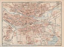 Antique Print of Map 1929 Nuremberg Germany Plan Neurenberg  Nürnberg