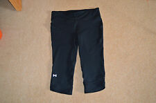 womens ladies under armour heatgear,capri,running leggings size 14 / large