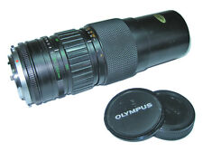 Olympus. OM-Series Zuiko Auto-Zoom 85-250mm. Camera Lens plus caps and filter.