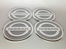NISSAN  4 x 60mm Alu Emblem Felgen Aufkleber Logo Nabendeckel Nabenkappen