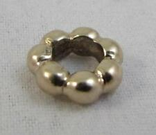 Pandora 14k Yellow Gold Bubble Spacer Charm Bead Ring Retired 750131
