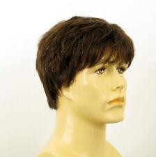 Perruque homme 100% cheveux naturel châtain ref LAURENT 6spw