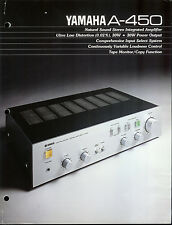 Rare Collectible Yamaha A-450 Stereo Amplifier/Amp Dealer Brochure Info Ad
