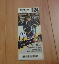 Signed Peter Regin 1st NHL Goal Ticket