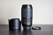 Nikon AF-S 70-300mm VR Lens!  FX Telephoto Lens w/ B+W UV Filter!  US Model!