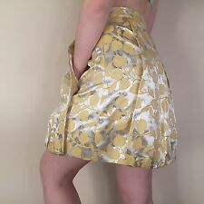 Moschino Lemon Inspired Tulip Pleated Skirt Neon Unusual 10/12