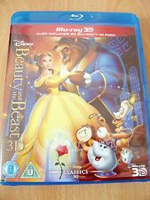 Disney - Beauty And The Beast - 3D + 2D Blu-Ray - 2 Disc Set Genuine UK Release