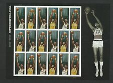 2014 #4950-4951 Wilt Chamberlain Pane of 18 Imperf without die cuts MNH