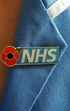 NHS POPPY NURSE/DOCTOR/HCA/OT/PHYSIO/HOSPITAL/AMBULANCE PIN BADGE