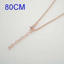 "Snap-It Rose Gold 31"" w/3"" Extender Chain For Snap It Pendants"