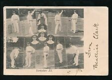 Yorkshire Yorks Sport CRICKET Yorkshire XI Team Used 1903 PPC