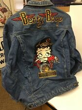 Betty Boop Biker Denim Jean Jacket American Toons By Excelled Size XL Motorcycle