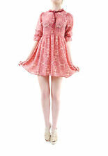 For Love & Lemons Women's New GENEVA Mini Dress Sienna Print Pink Size S BCF65
