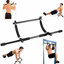 Home Doorway Gym Fitness Pull Up Bar Total Body Workout Exercise Durable Steel
