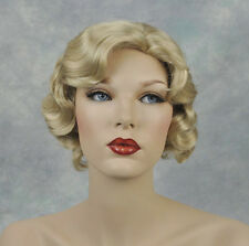 Beautiful Light Ash Blonde Finger Wave 1920s, 1930s Gatsby Roxie Flapper Wig!