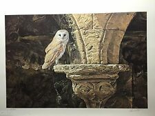 Alan HUNT LTD art print Ancient Glow Barn Owl Certificate Authenticity folder